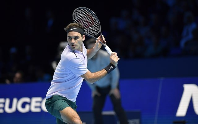 Roger Federer in azione