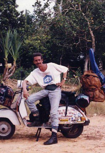 Giorgio Bettinelli e il suo giro del mondo in Vespa